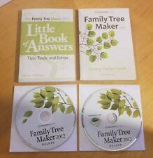 Ancestry .com 2012 Deluxe Family Tree Maker W/ Guides New Complete + Bonus KMJZ
