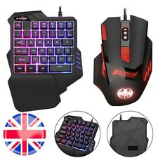 Mechanical Keyboard & Mouse For PS4 PS3 Xbox One PC Gaming Rainbow LED Backlit