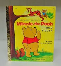 Vintage 1976 A Little Golden Book Winnie The Pooh And Tigger Children's Book