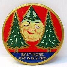 awesome 1929 BALTIMORE Tall Cedars Lebanon pinback button Scottish Rite Masonic
