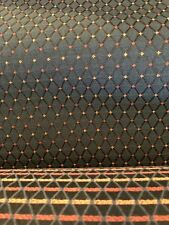 "Upholstery Fabric Polyester Blue Diamond Dot Navy Blue 5.5 Yards 54"" Wide"
