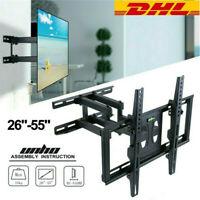 LED LCD TV Wandhalterung 32 37 40 42 46 48 50 52 55 Zoll schwenkbar neigbar DHL