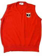 The Titleist Collection 100% Orlon Vest Union Made In The USA Red Size XL