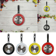 Kitchen Wall Clock Frying Pan Modern Home Kitchen Dining Room Cafe Decor