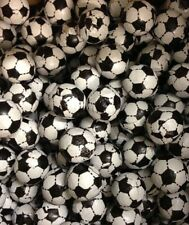 BLACK AND WHITE CHOCOLATE FOOTBALLS 1 KILO APPROX 200 PIECES RETRO SWEETS CANDY