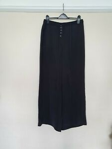Size 12 Wide Leg Trouser, Soft And Silky. Buttons , elastic back. Summer, New.