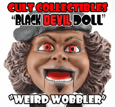 BLACK DEVIL DOLL weird wobbler bobblehead horror cult