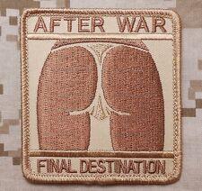 AFTER WAR FINAL DESTINATION TACTICAL ARMY DESERT VELCRO® BRAND FASTENER PATCH