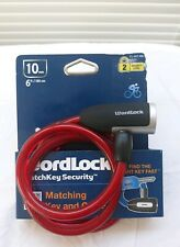 Worldlock Matchkey Security System, Bike's Key And Cable 6 Ft x 4 In. Color Red,