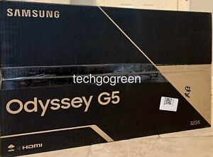"Samsung LC32G55TQWNXZA 32"" G5 Odyssey Curved Gaming Monitor - New Opened Box"