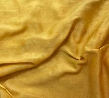 Silk/Cotton Voile Batiste Fabric Hand Dyed HONEY MUSTARD YELLOW 54""