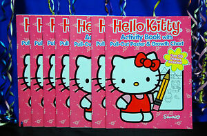 Hello Kitty Party Set # 16 Cups Plates Napkins Tablecover Invites Hats Banner +