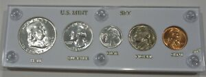 1955 D Silver Proof Set in White Holder
