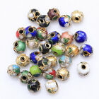 110pcs Mixed Color Chinese Cloisonne Enamel Round Spacer Loose Beads 6mm HN