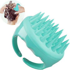 Shampoo Brush Hair Comb Scalp Massager Silicone Scrubber With Handle Soft