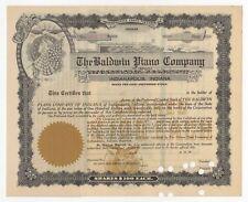 19--  Baldwin Piano Company Stock Certificate - Unissued