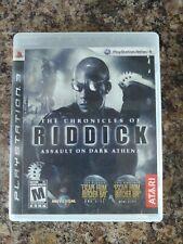 Chronicles of Riddick: Assault on Dark Athena NoManual PS3 (PlayStation 3, 2009)