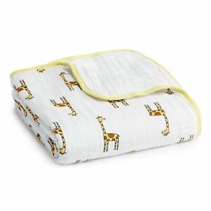 aden + anais jungle jam - giraffe/white classic muslin dream blanket