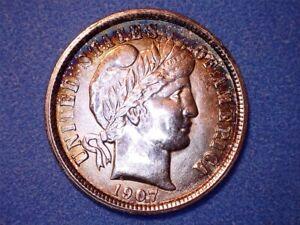 US Coins-1907-O Barber Dime