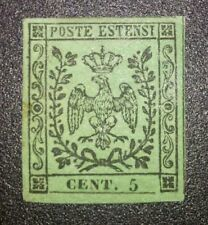 Modena 5 cent n.1 nuovo * con gomma cat. 6500 euro