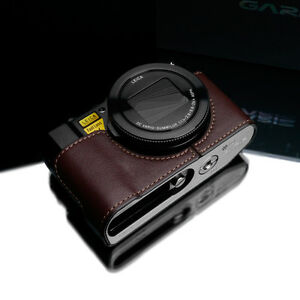 GARIZ Genuine Leather Half Case Panasonic LX10 XS-CHLX10BR Brown