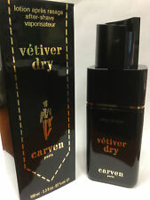 Vetiver Dry After Shave 3.3 fl. oz.// 100 ml by Carven NEW IN BOX.