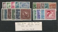 Austria, Postage Stamp, #B3-B7, B66-B70, B71-B76, B142-5 Mint LH, JFZ