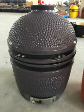 "YNNI KAMADO 15.7"" Limited Edition GREY Oven BBQ Grill Egg with Stand TQ0015GY"
