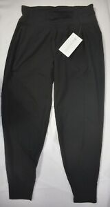 NWT $98 Athleta M Black Distance Jogger in Dobby Workout Running Pants  #510223