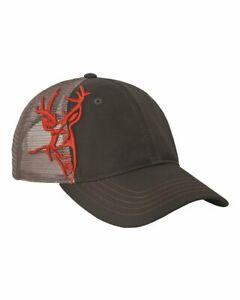 Dri Duck Running Buck Deer Cap 3301 Realtree Camo Blaze Orange Baseball Hat