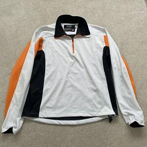 Galvin Green Soft shell Windstopper Jacket Jumper 1/4 Zip White Orange Size M