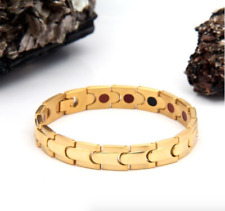 Authentic Pur life Negative Ion Bracelet ELEGANT GOLD STEEL PURELIFE BALANCE