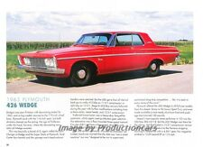 1963 Plymouth Belvedere 426 Wedge - Original Car Print Article J265