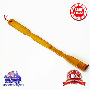 Wooden Bamboo Scratch back Back Scratcher Rack Body Massage Itchy Relieve