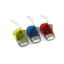 Portable 3 LEDs Hand Pressing Flashlight Traveling Torch Light Manual Generator