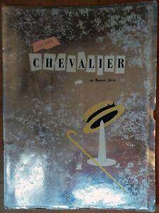 MAURICE CHEVALIER, Gran Teatro Broadway, Buenos Aires, 1951, Pressbook 587