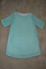 Womens M Everly Turquoise/White Chevron Dress Size Medium