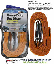 Tow Strap Quality Heavy Duty 4.5 Tonne Breakdown Recovery Towing Rope 3.5M Long