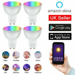 GU10 RGB Light WIFI Smart APP Remote Control Bulb LED Lamp for Alexa & Google UK
