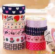 Colorful Washi Fabric Tape DIY Lace Album Decorative Tape Stickers Masking Tape