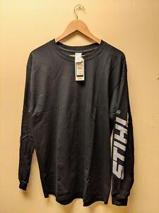 "Official STIHL ""Arm Logo"" Black Long Sleeve T-shirt - M, L, XL, 2X & 3X Sizes"