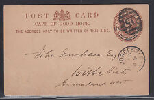 Cape of Good Hope H&G 8 used 1895 ½p Postal Card to Griqualand West, VF