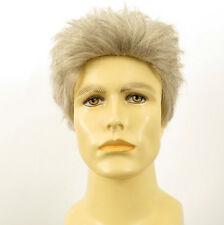 Perruque homme 100% cheveux naturel blanc méché gris ref XAVIER 51