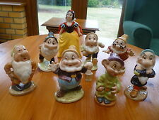 Anni 1960 VINTAGE Beswick Snow White & 7 SETTE NANI WALT DISNEY'S Set Completo