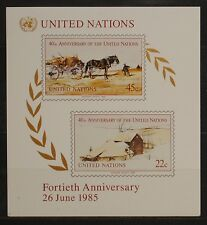 Nations Unies New York 1985  Y & T   BF 8  Neuf   * *  SANS CHARNIERE