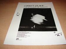 ROBERT PLANT - PRINCIPLE MOMENTS!!!!!PUBLICITE / ADVERT