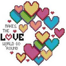 Free S&H 14 Counted aida Cross stitch Love kit 86 x 86 stitches KJ013