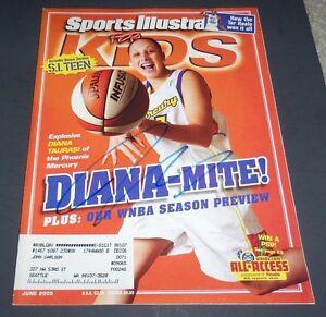 DIANA TAURASI SIGNED SPORTS ILLUSTRATED FOR KIDS JUNE 2005 PHOENIX MERCURY WNBA
