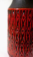 60s Keramik Carstens Tönnieshof Vase H 41 cm west german ceramic relief pattern
