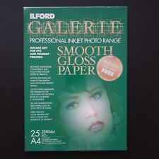 ILFORD Galerie Professional Inkjet Photo Smooth Gloss Paper A4 280gsm 25 Sheets